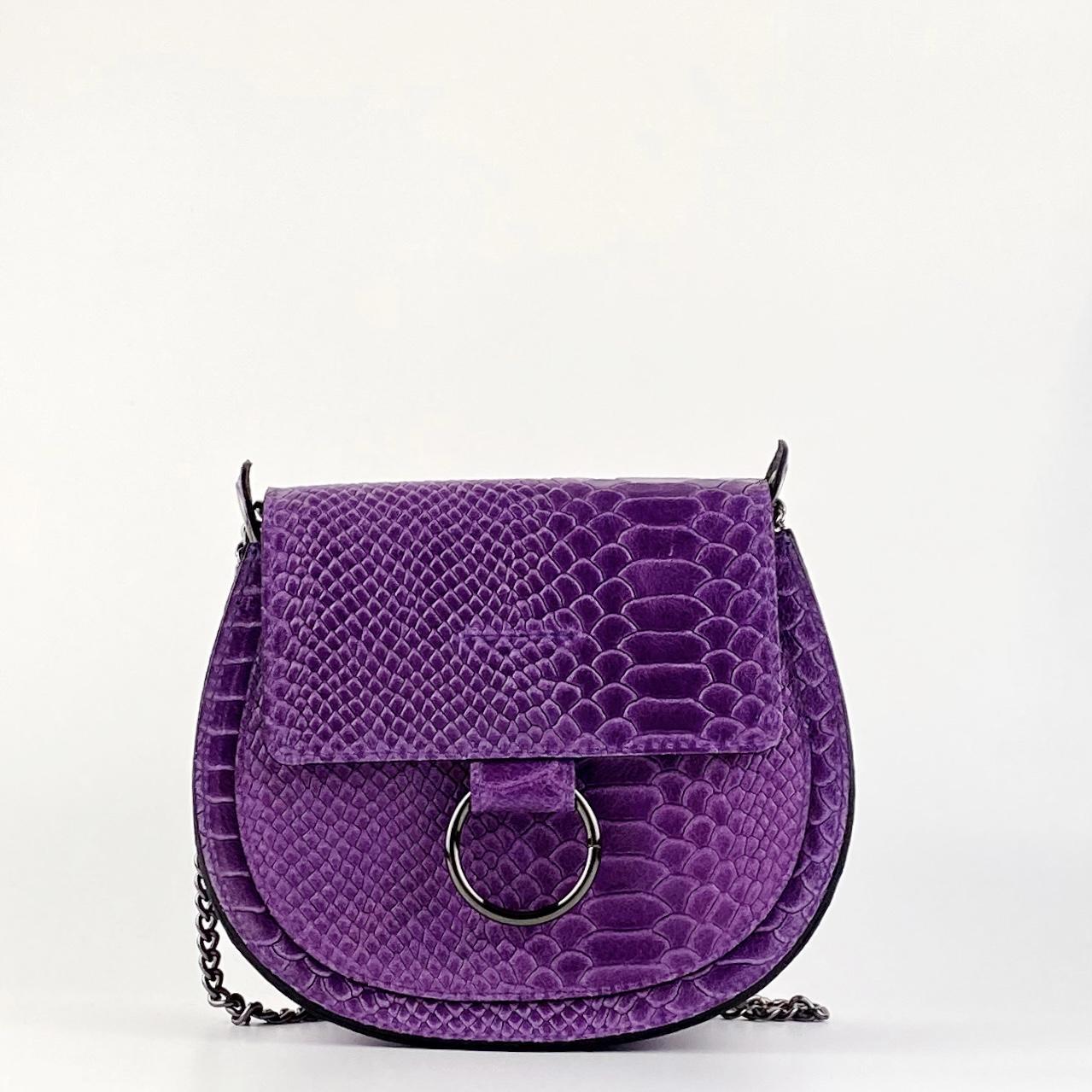 Bandolera midi anillas violeta
