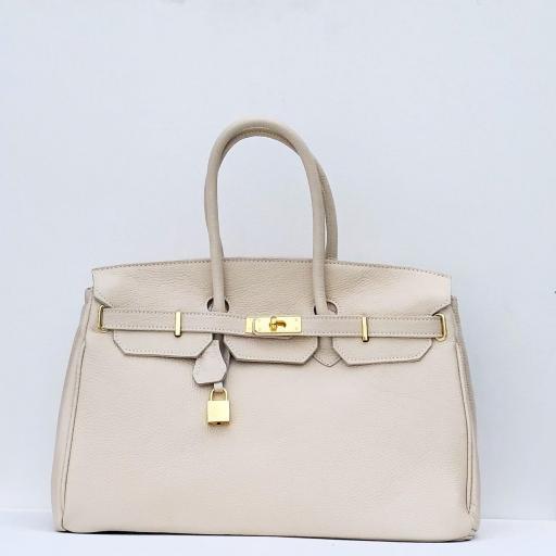 handbag candado beigge/ dorado  [0]