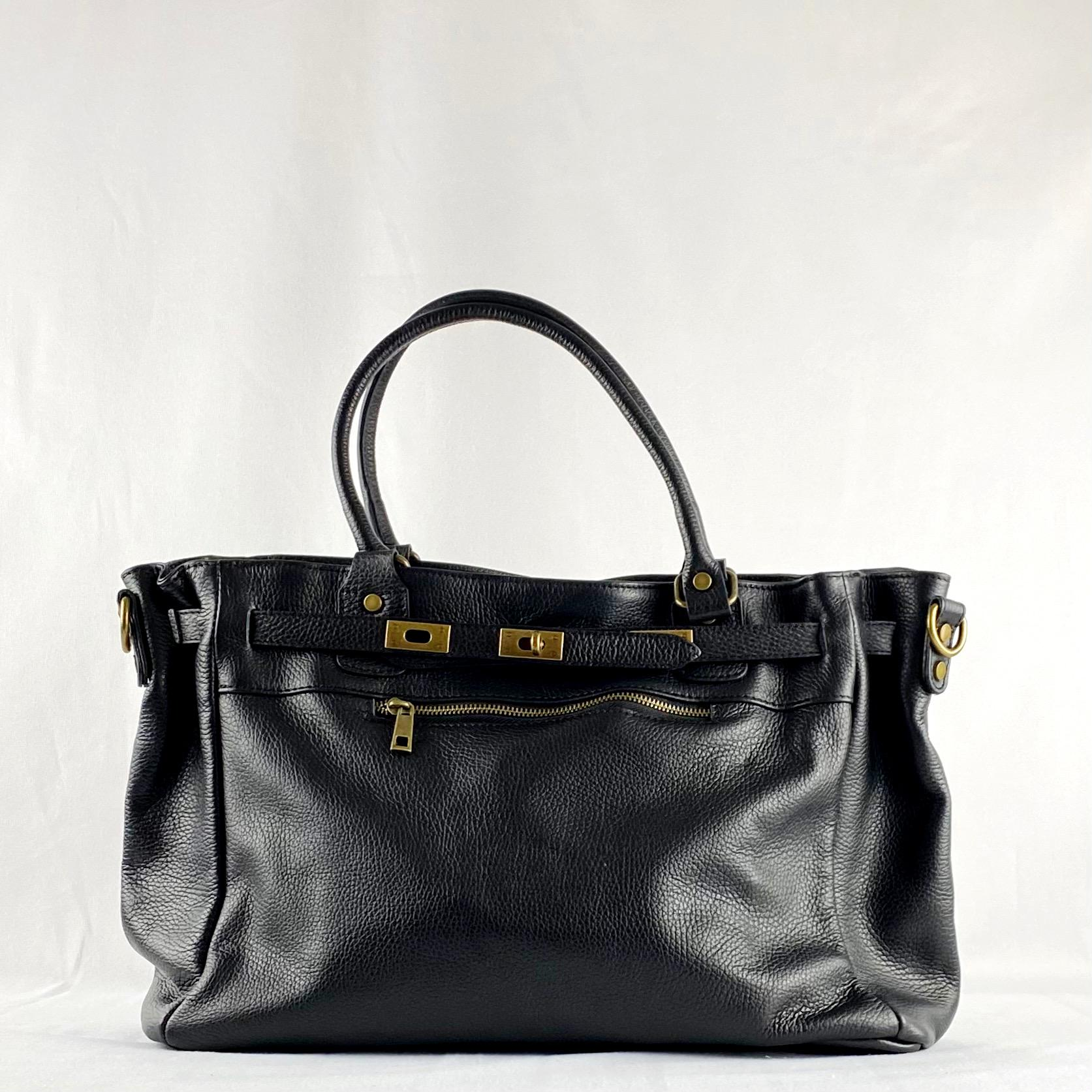 Handbag cremallera negro
