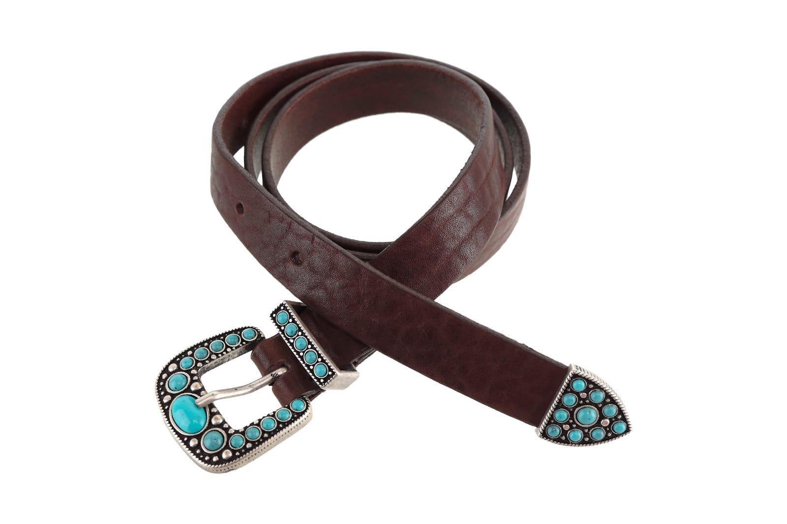 Cinturón hebilla turquesa