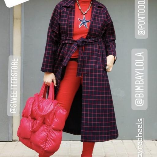 Bolso acolchado Shopper rojo  [3]