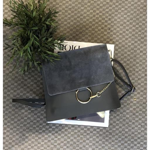 bolso cuadrado anillas gris  [3]