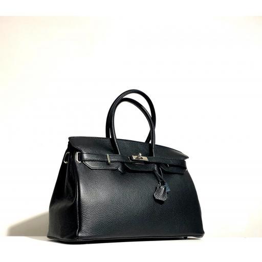handbag candado negro [2]