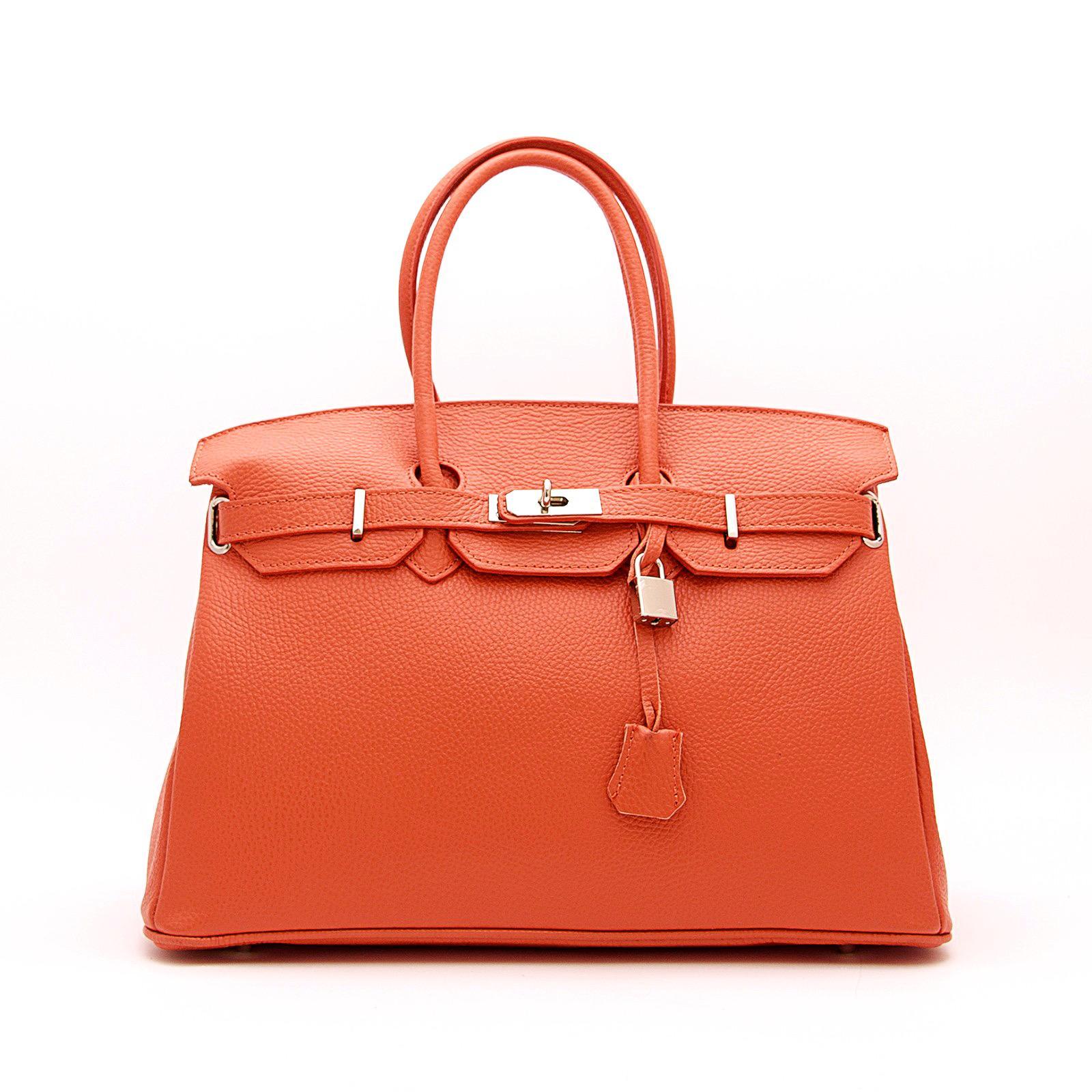 Handbag candado naranja