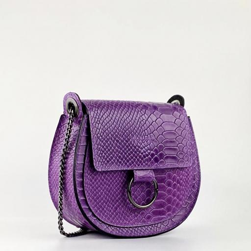 Bandolera midi anillas violeta [2]