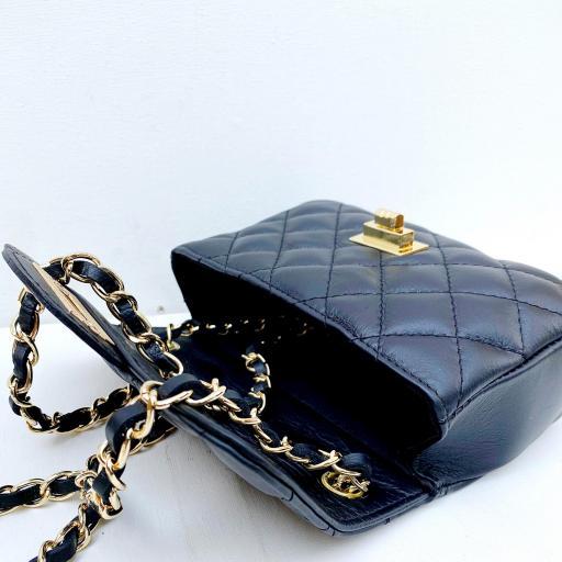 Bolso mini acolchado negro [3]