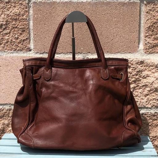 handbag candado marrón  piel lavada [2]