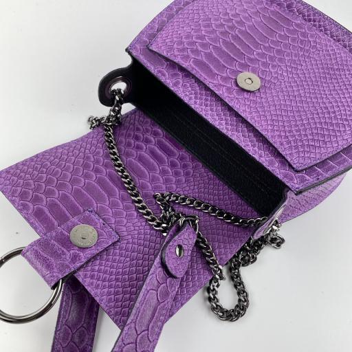Bandolera midi anillas violeta [1]