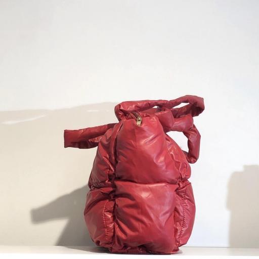 Bolso acolchado Shopper rojo  [1]