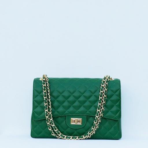Bolso acolchado Maxi clasic verde
