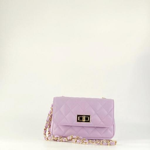 Bolso mini acolchado lila [3]