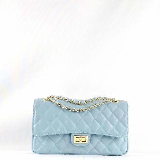Bolso acolch clasic azul cielo