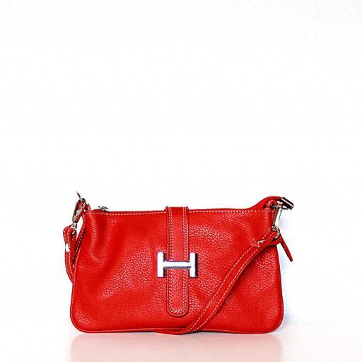 Cartera básic estilo Hermes rojo [0]