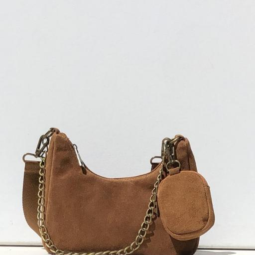 Bolso estilo Milán piel camel [0]