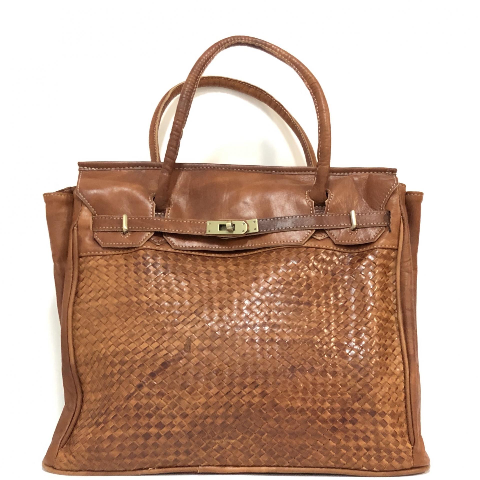 handbag candado cuero  midi