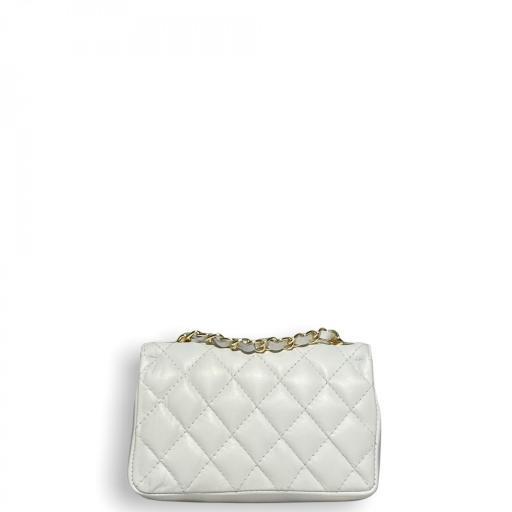 Bolso mini acolchado Blanco [1]