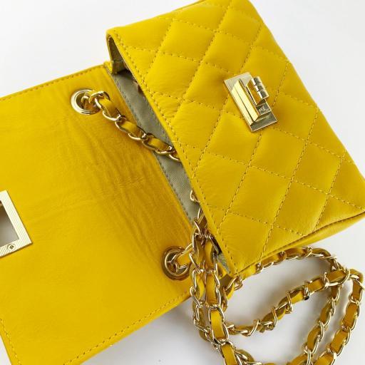 Bolso mini acolchado Amarillo [3]