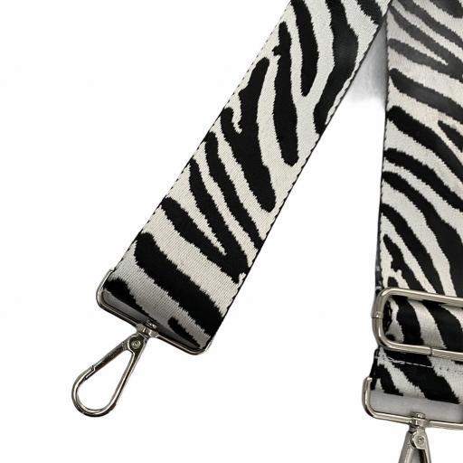 Correa animal print blanco y negro [1]