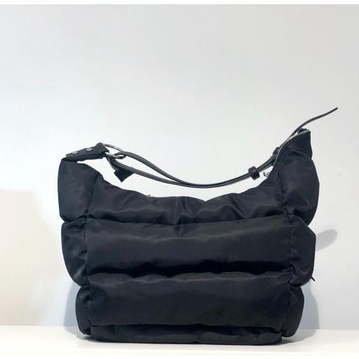 Bolso acolchado Nylon negro