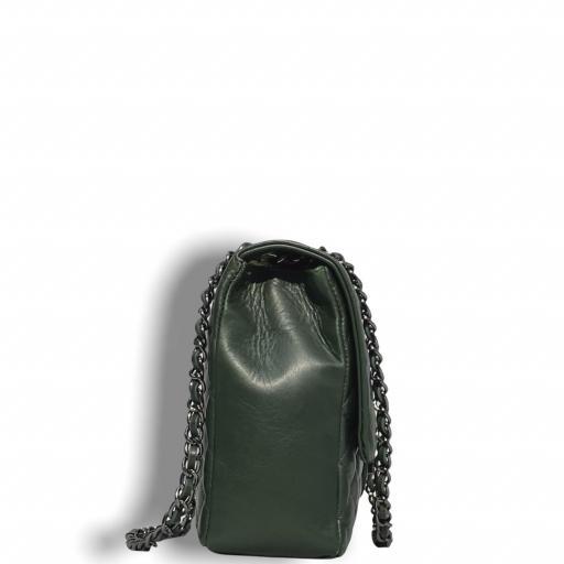 Bolso acolchado  Maxi verde Kaki  cad platino [1]