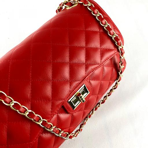 Bolso acolchado clasic rojo [3]