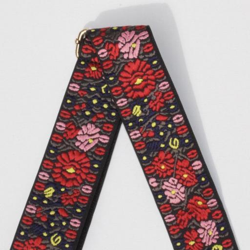 Cinto ajustable Flores rojas  [0]
