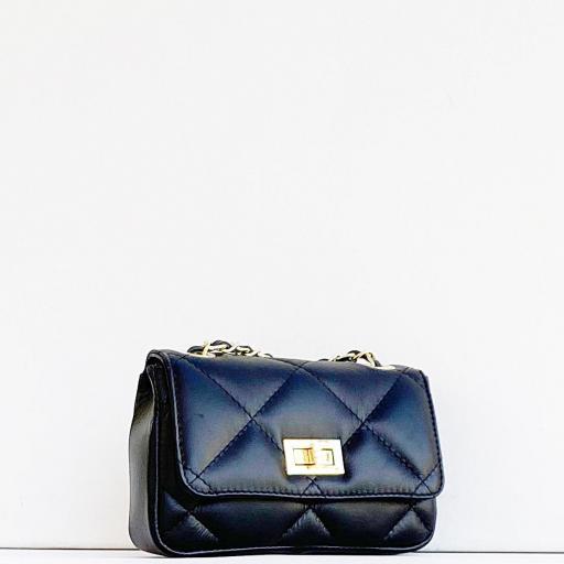 Bolso mini 19 acolchado negro [2]