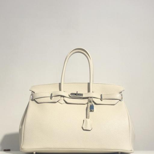 Handbag candado beigge