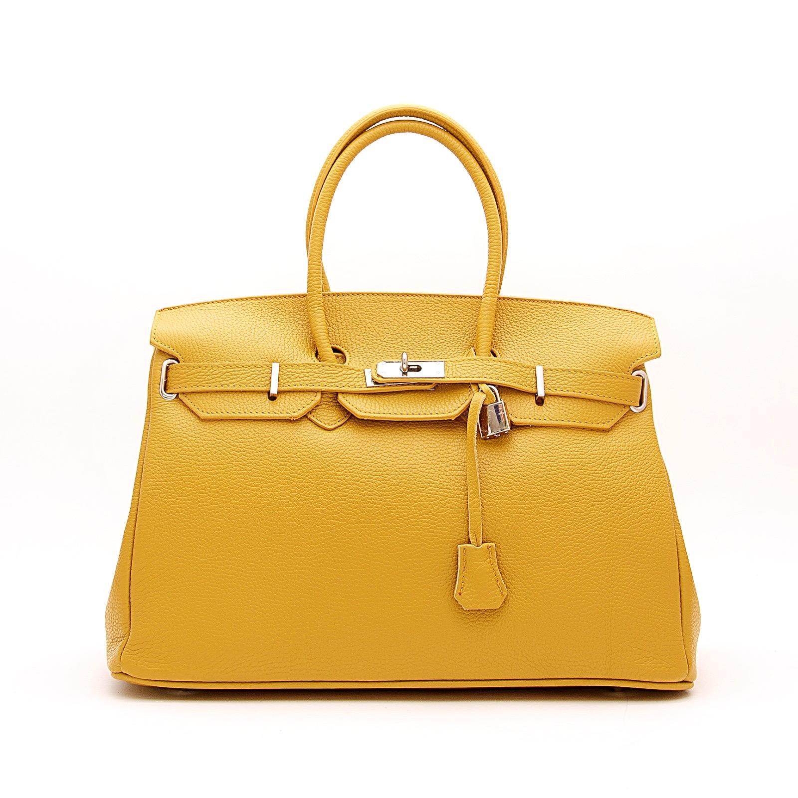 handbag candado mostaza