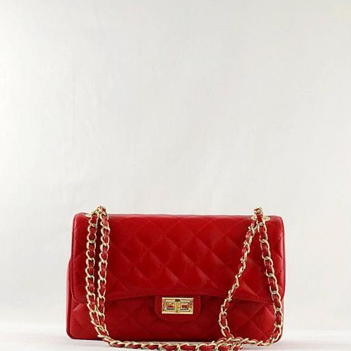 Bolso acolchado clasic rojo