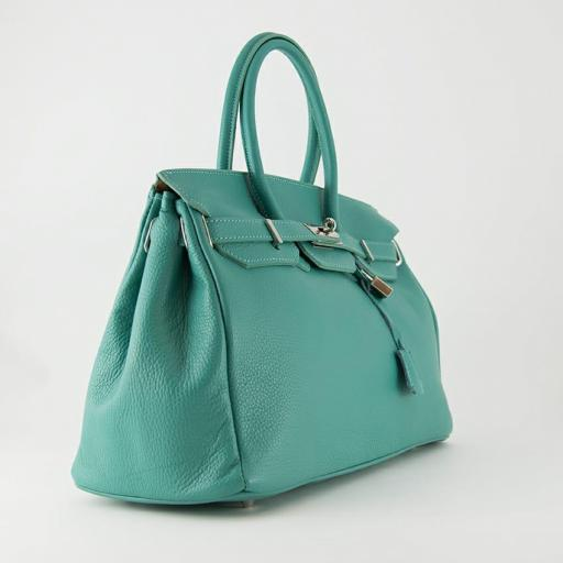 handbag candado turquesa [2]