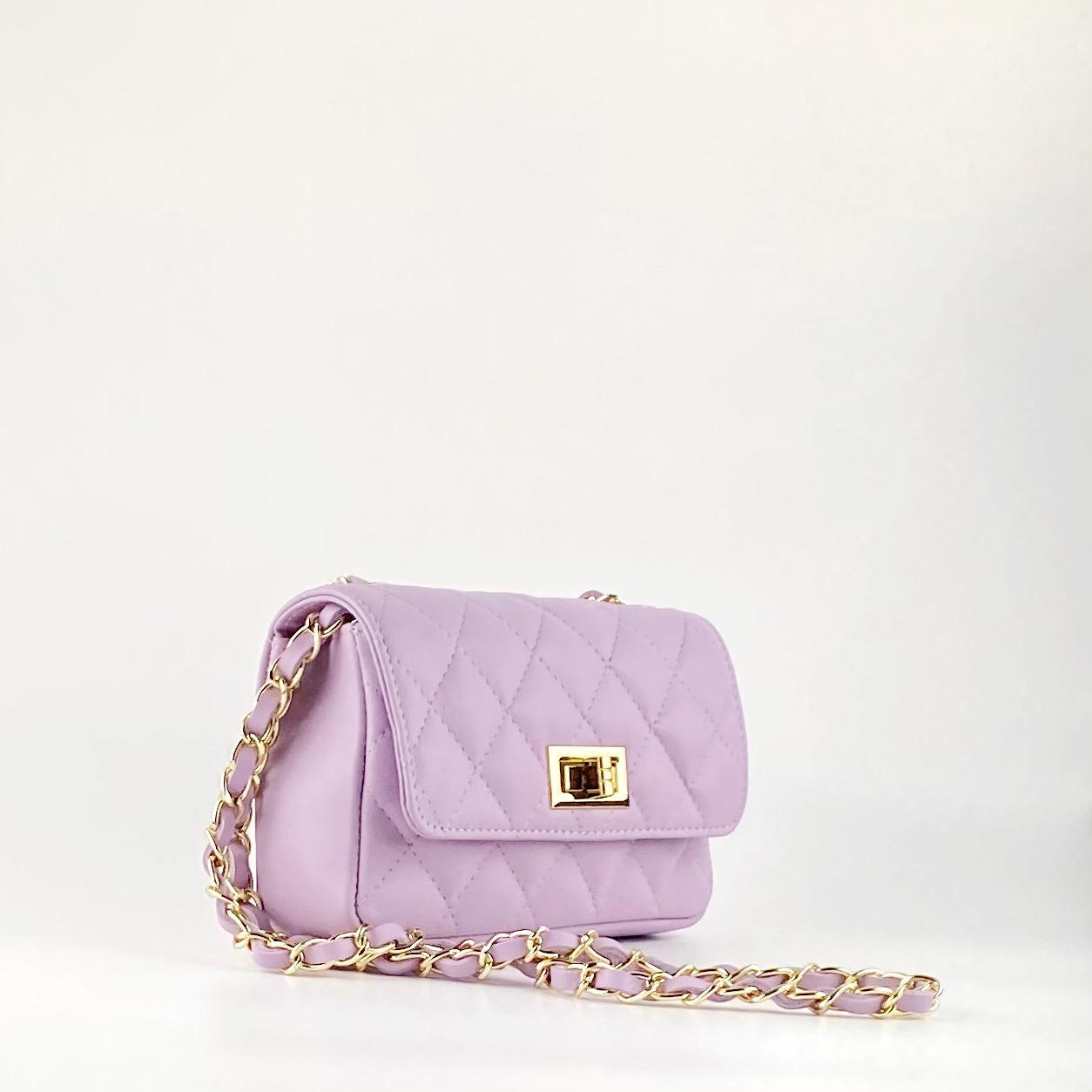 Bolso mini acolchado lila