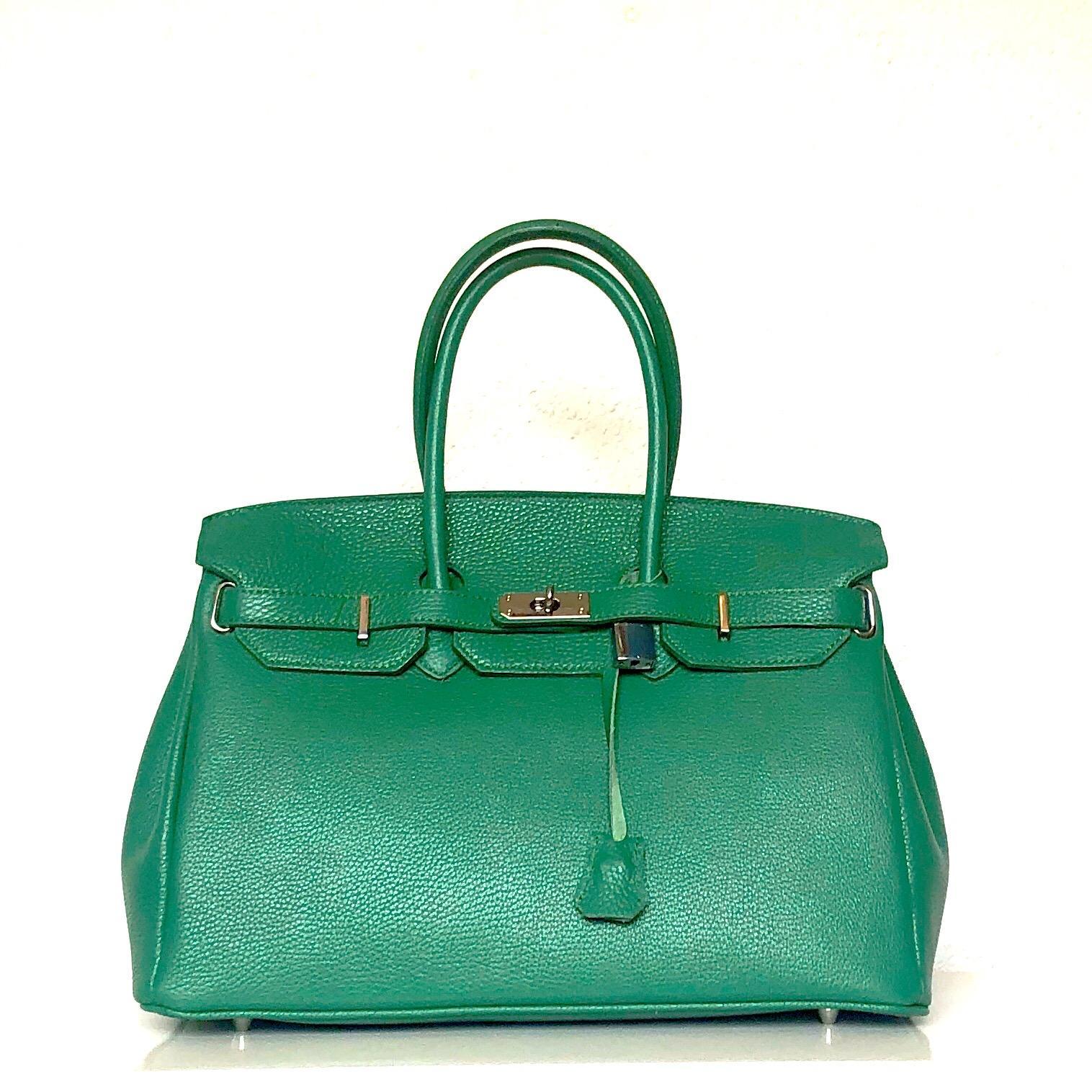 Bolso handbag candado verde