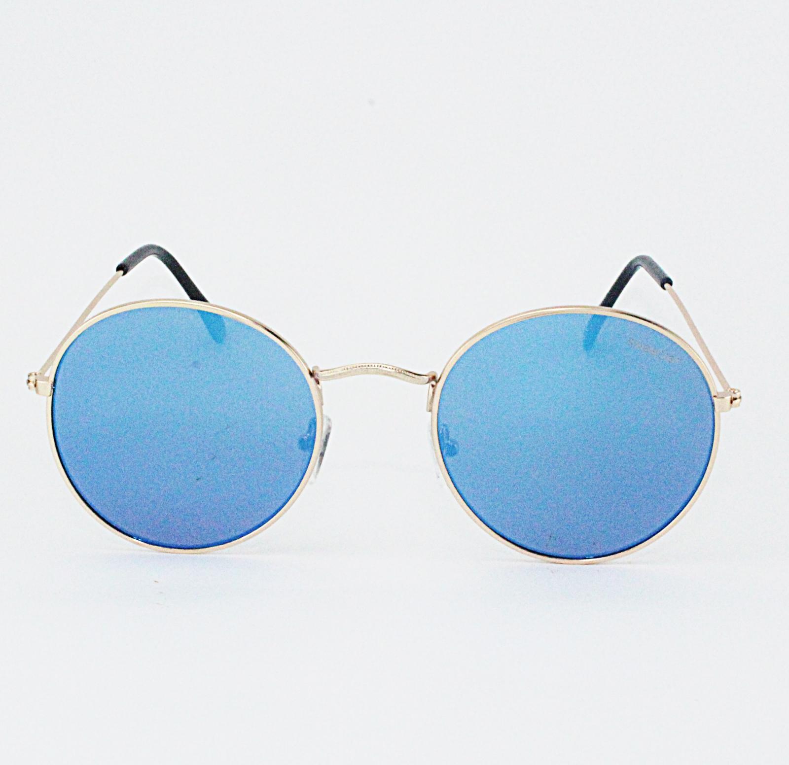 Gafas round metal azul