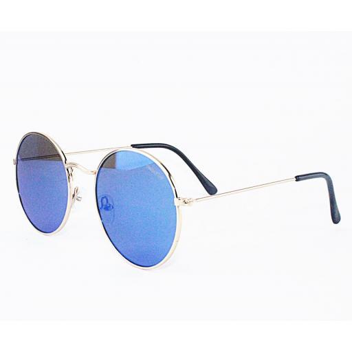 Gafas round metal azul [1]