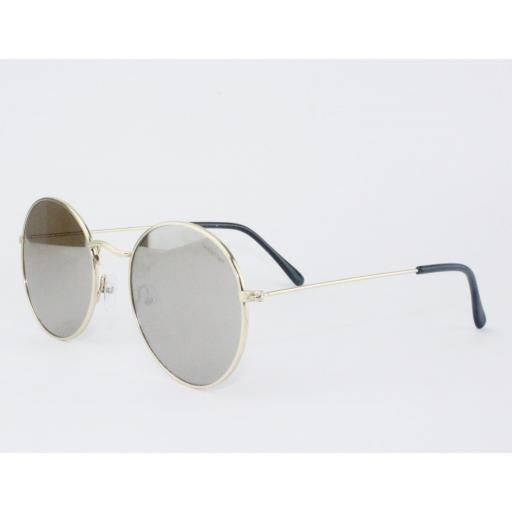 Gafas round metal espejo [1]