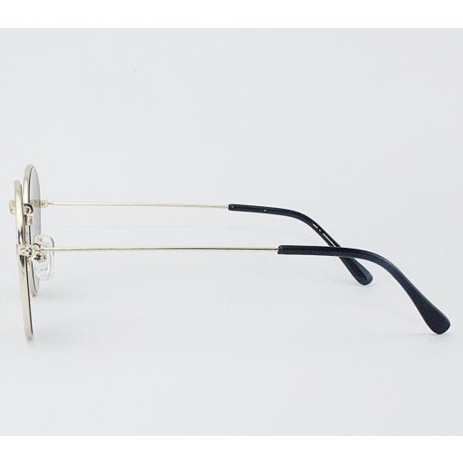 Gafas round metal espejo [2]