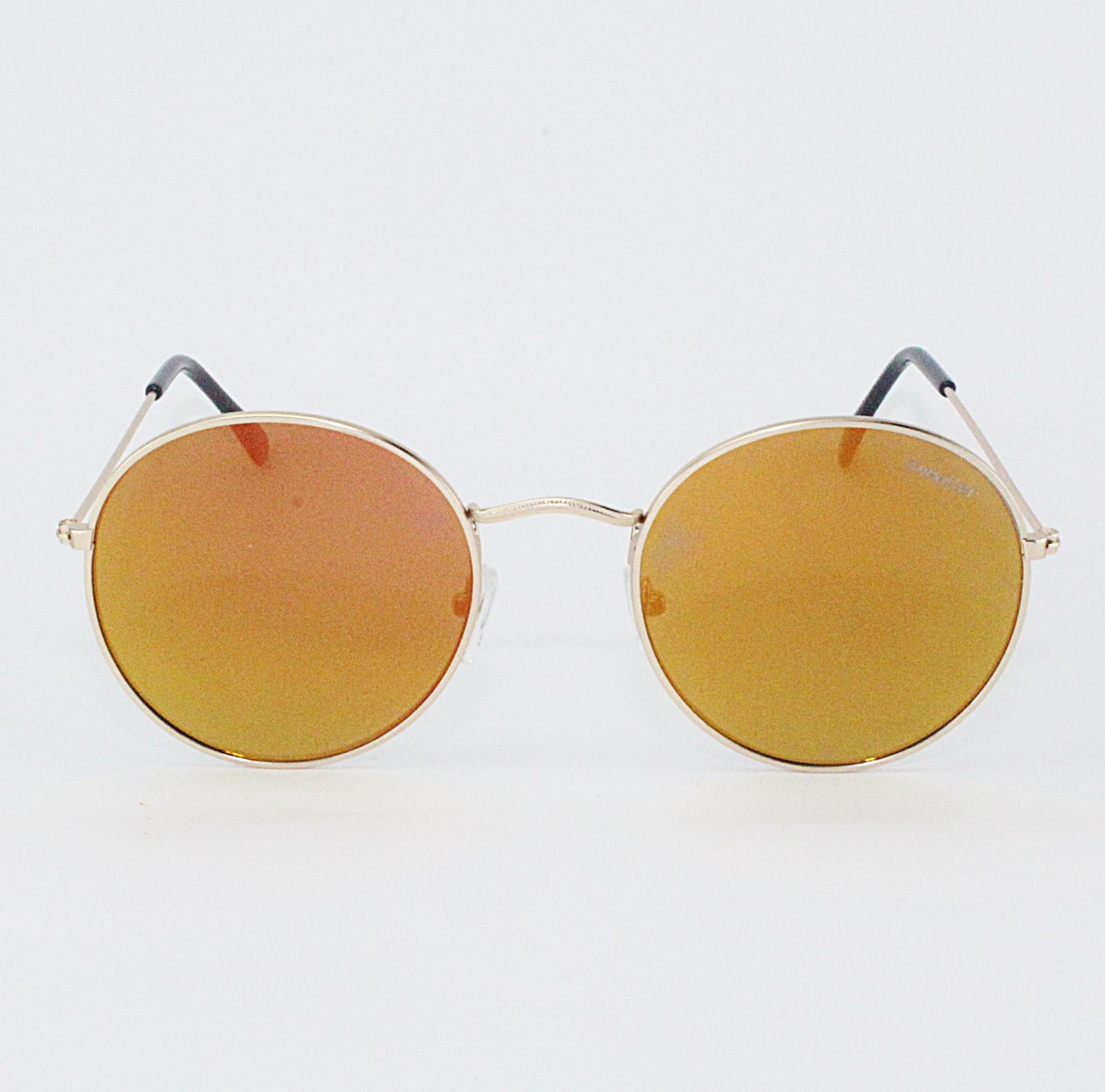 Gafas round metal naranja