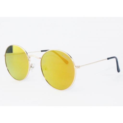 Gafas round metal naranja [1]