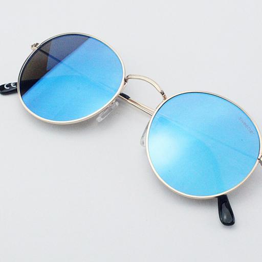 Gafas round metal azul [3]