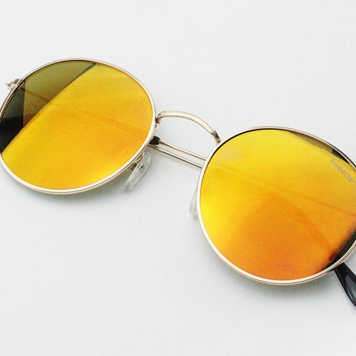 Gafas round metal naranja [3]