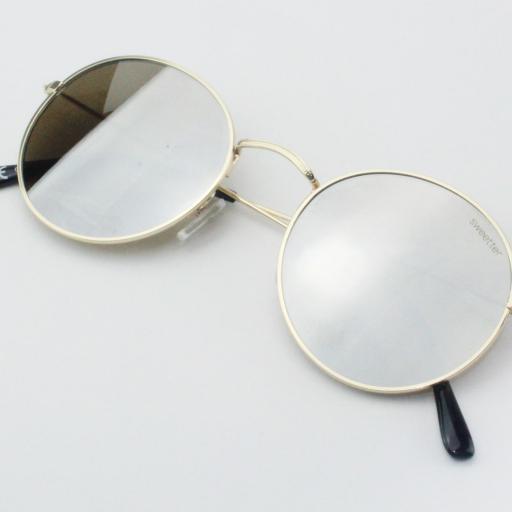 Gafas round metal espejo [3]