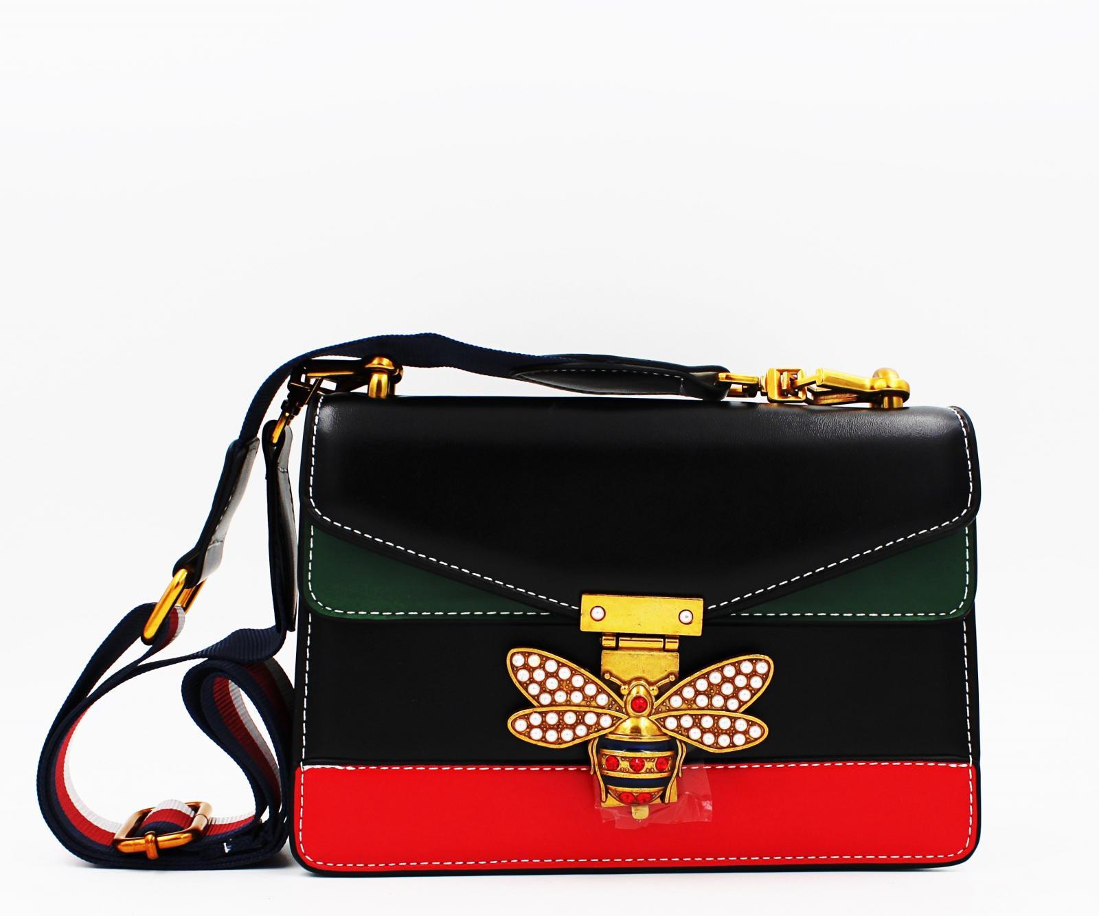 Mini bolso Super Start en negro-verde