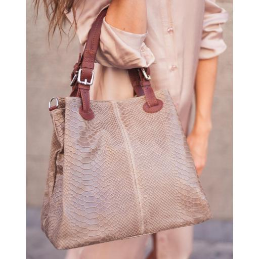 bolso shopper Beigge