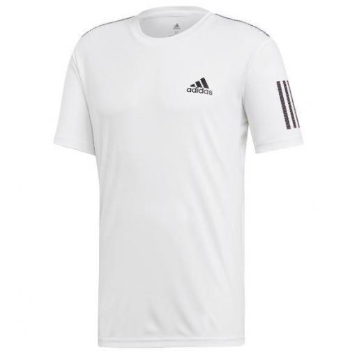 Camiseta Adidas Club 3 Stripes Blanca
