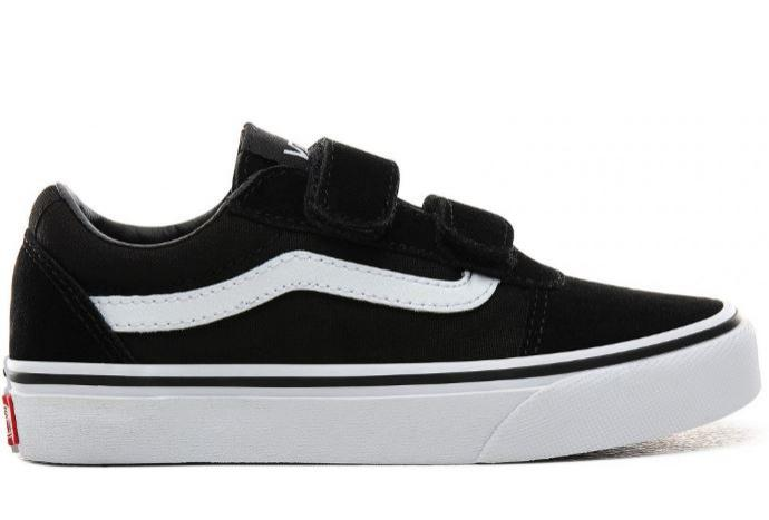 Zapatillas Vans Ward Suede Canvas Velcro Niños Negro/Blanco