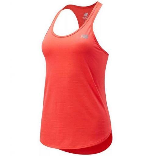 Camiseta Tirantes New Balance Accelerate Mujer Coral