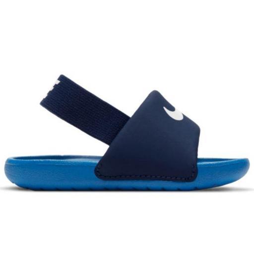 Sandalias Nike Kawa Slide TD niño pequeño azul