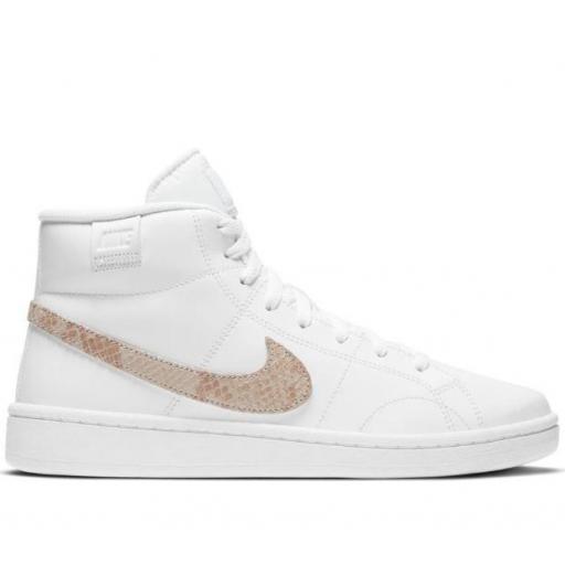 Zapatillas Nike Court Royale 2 MID Blanco/Dorado