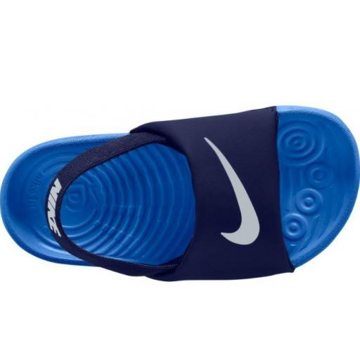 Sandalias Nike Kawa Slide TD niño pequeño azul [2]